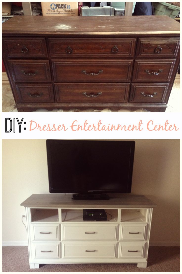 Best 25 Dresser entertainment centers ideas on Pinterest  Refurbished dressers Tv stand