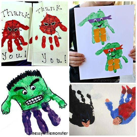 Amazing Superhero Handprint Crafts for Kids - Crafty Morning
