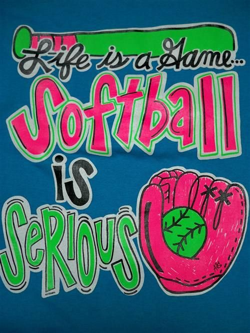 Southern Chics Funny Softball Serious Sweet Girlie Bright T Shirt   SimplyCuteTees