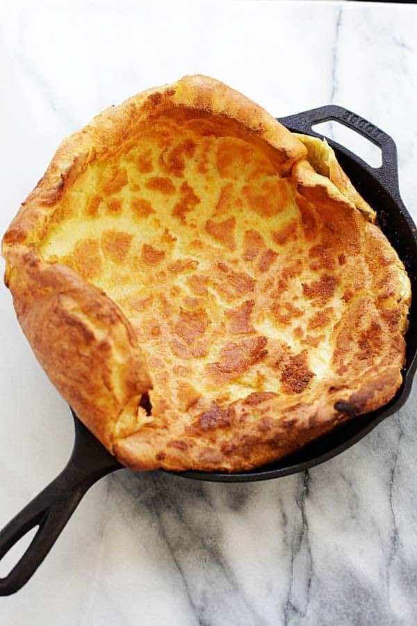 Perfect, puffy and fluffy Dutch Baby in hot cast-iron ...