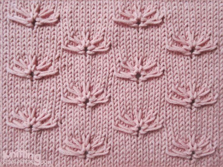 Little Cornflower on a stockinette background.