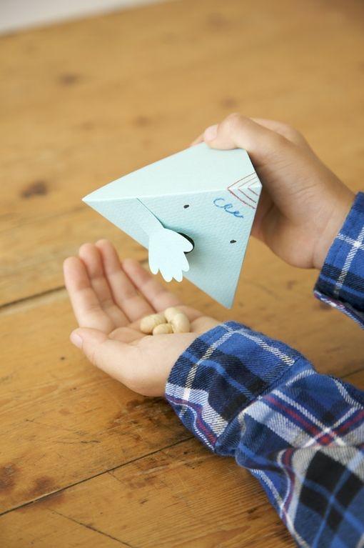 鬼の口から豆が出てくる、豆入れBOX。/おいしくって、かわいい! 節分のレシピとクラフト(「はんど&はあと」2012年2月号)