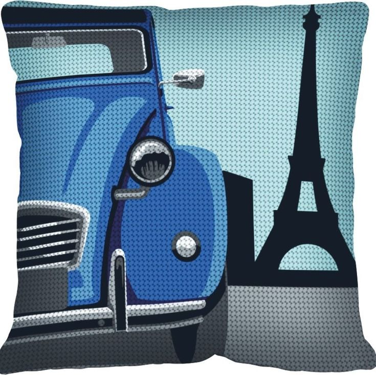 SEG de Paris Chunky Tapestry Cushion Kit - paris/2 CV