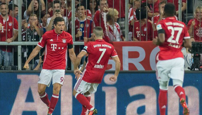 Robert Lewandowski on target again as Bayern Munich seal first Bundesliga away win at Schalke #FCBayern  Robert Lewandowski on target again as Bayern Munich seal first Bundesliga away win at Schalke  Berlin: Bayern Munichs Robert Lewandowski made amends for several glaring misses when he scored a late goal and set up another as the German champions ground out a 2-0 win at battling Schalke 04 on Friday.  The Poland striker who netted a hat-trick in a 6-0 home demolition of Werder Bremen on…