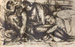 <Composición > de Bigatti Alfredo. Tinta sobre papel, Sin definir cm.