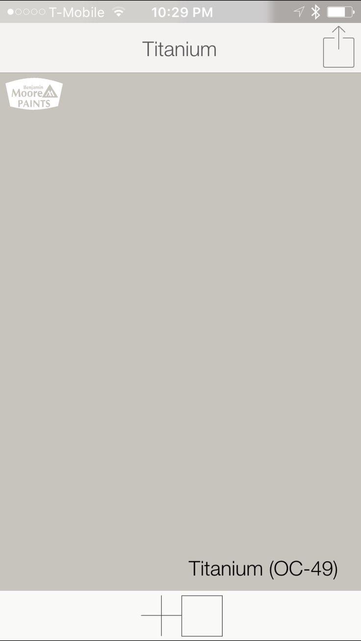 warm gray paint colors from benjamin moore titanium oc 49. Black Bedroom Furniture Sets. Home Design Ideas