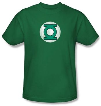 Green Lantern Distressed Logo Shirts  This officially licensed Green Lantern shirt features a distressed chest logo for the DC Comics superhero.    Fabric Details        Color: Kelly Green      100% cotton    Our Price: $17.95  - See more at: http://www.oldschooltees.com/Green-Lantern-Distressed-Logo-Shirts-p/green002.htm#sthash.QBVRyCkK.dpuf