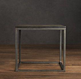 Restoration Hardware Look-Alikes: Look-Alikes Clearance: Restoration Hardware Metal Parquet Side Table