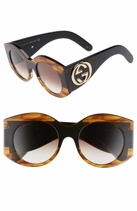 6a4ea2eb9dff9 Gucci 51mm Transparent Stripe Sunglasses