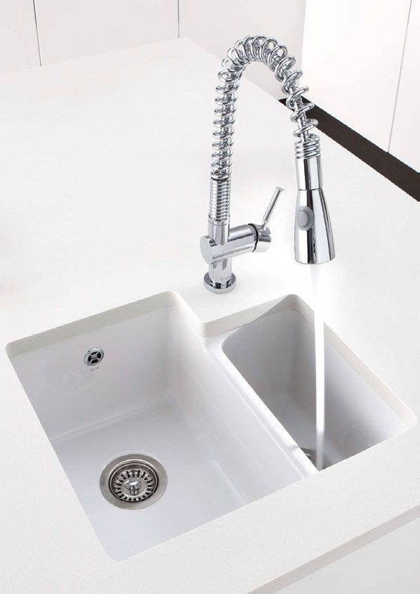 Caple paladin 1 5 bowl white ceramic undermount sink http - Undermount ceramic kitchen sink ...