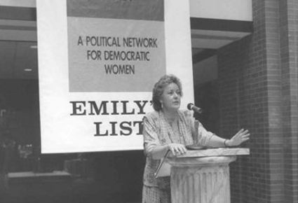 Emily's List, is a group that supports women in politics
