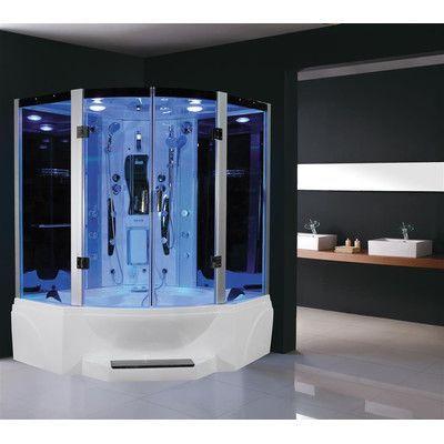 Eagle Bath Pivot Door Steam Shower Enclosure Unit