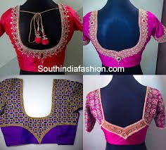 Image result for south indian bridal blouse back neck designs