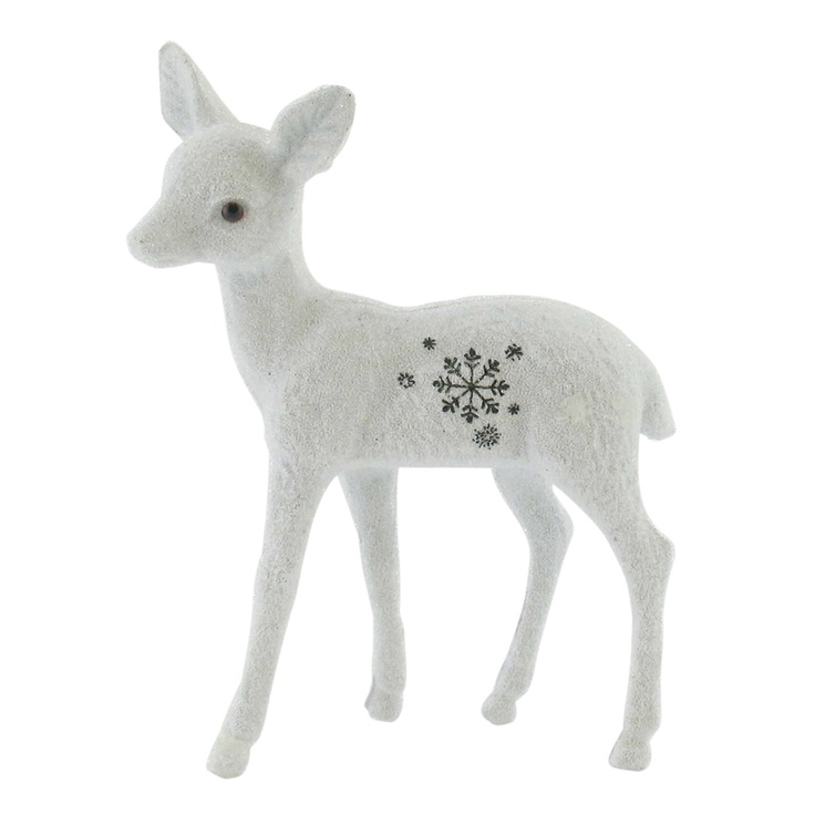 Paperchase crystalize finish snowflake print deer - so cute!: Paperchas Crystals, Characters Animal, Christmas Woodland, Fabrics T Shirts, Paperchas Snowflakes, Christmas Character, Christmas Homemaking, Crystals Finish, Deer