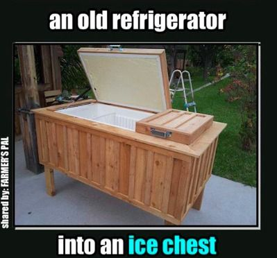 Brilliant: Refrigerator Turned Ice Chest