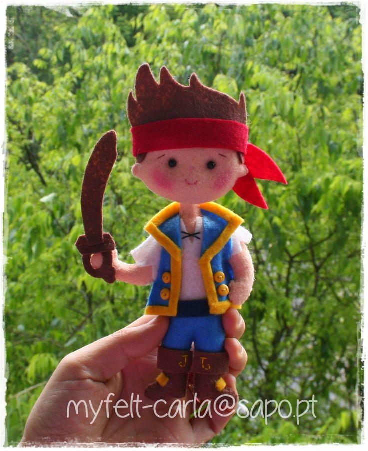 My Felt: Jake and the Never Land Pirates em feltro!