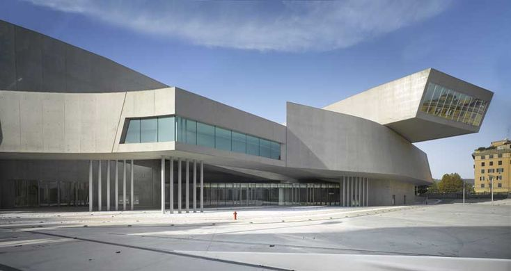 MAXXI, National Museum of the 21st Century Arts, Rome. The design of Zaha Hadid was the winner of an international design competition.