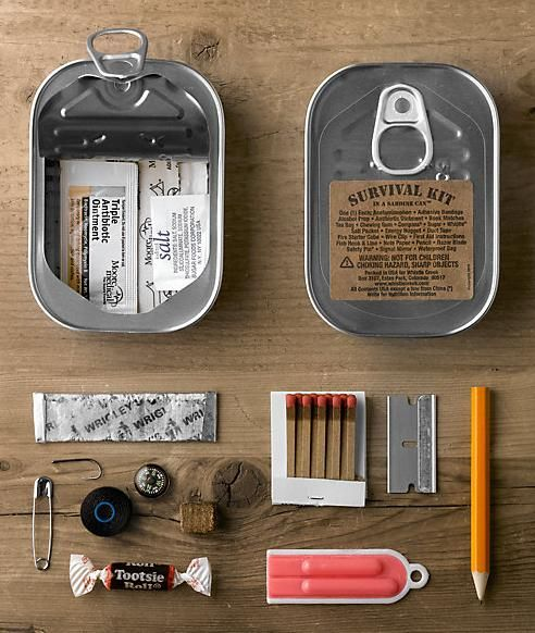 Survival Kit in a Sardine can!