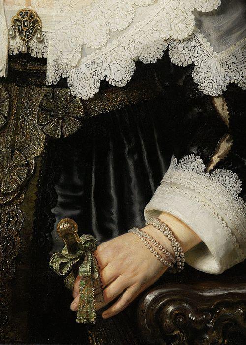 Ritratto di donna - dettaglio . Rembrandt, 1639