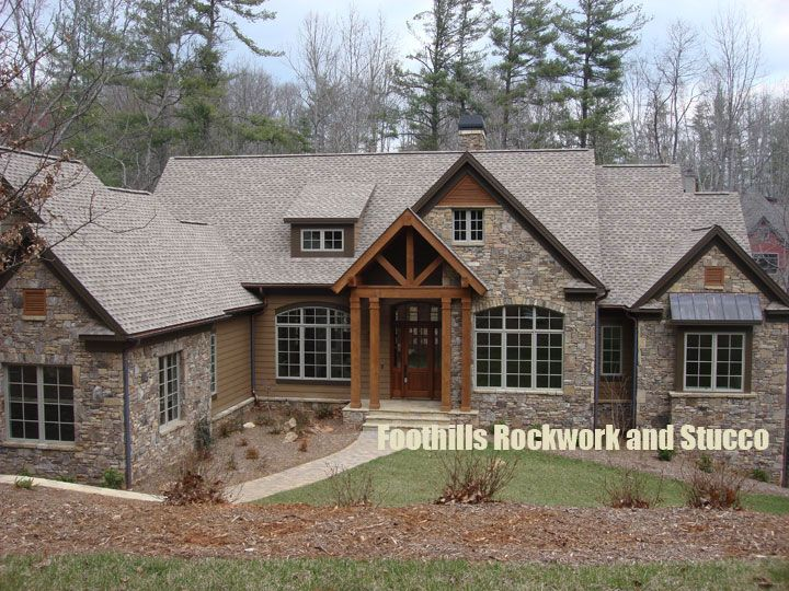 Stucco And Stone Foothills Rockwork And Stucco Stone And Rock Work Image Gallery Exterior