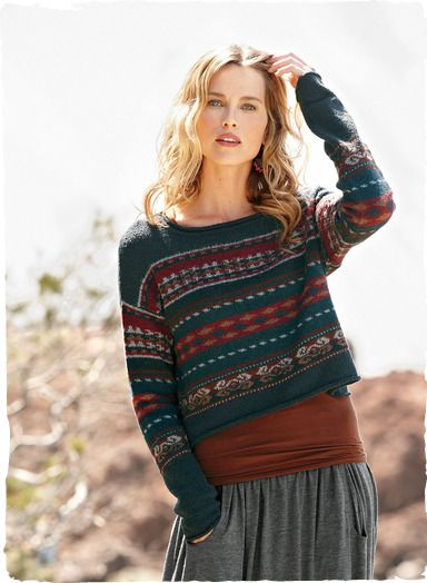 Peruvian Connection | Esplanade Pullover in #pima and #alpaca