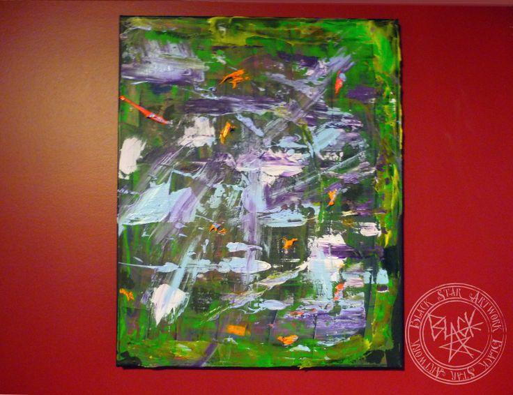 """Rain Storm""   16"" x 20""   Acrylic on canvas   Black Star Artwork by Leonard Walsh  www.facebook.com/BlackStarArtwork http://bit.ly/1bCN2xI"