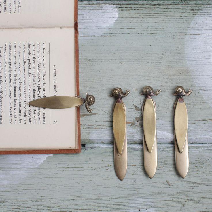 snail bookmark.