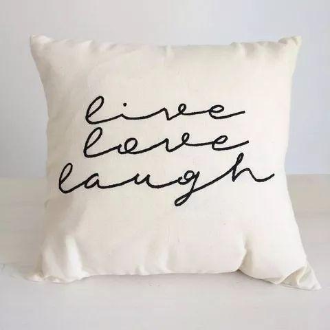 almohadones con frases bordadas 40x40