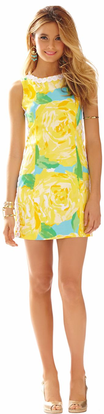 LILLY PULITZER MILA LACE DETAIL SHIFT DRESS | House of Beccaria~