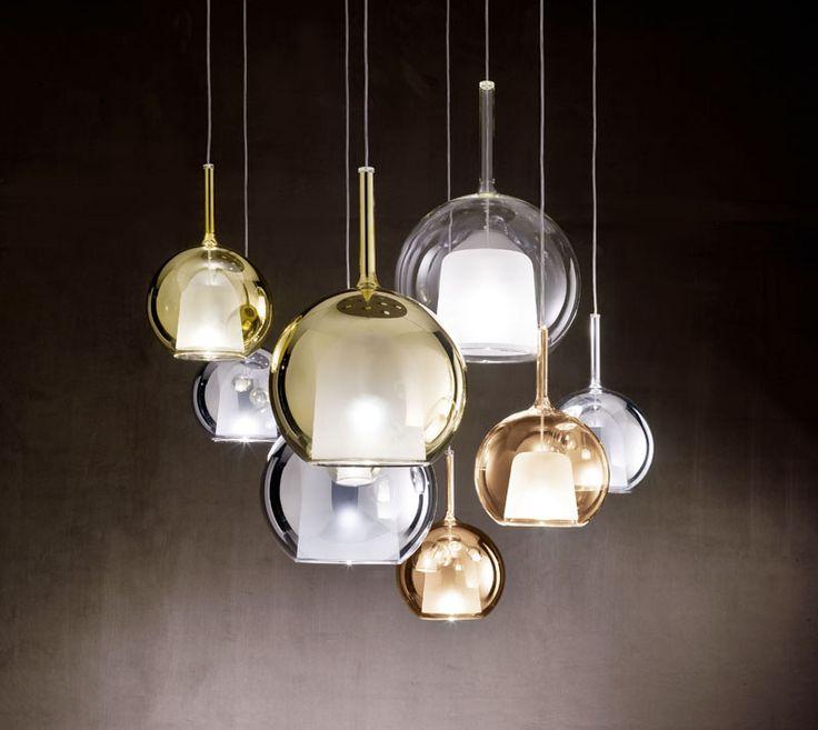 I am loving these chromed metal and borosilicate glass #pendants from Usona Home!