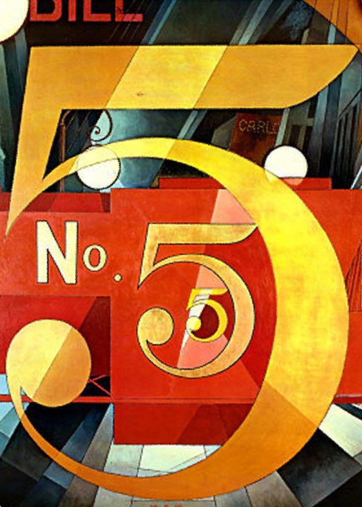 """1928 painting by Charles Demuth, entitled """"The Figure 5 in Gold"""""""
