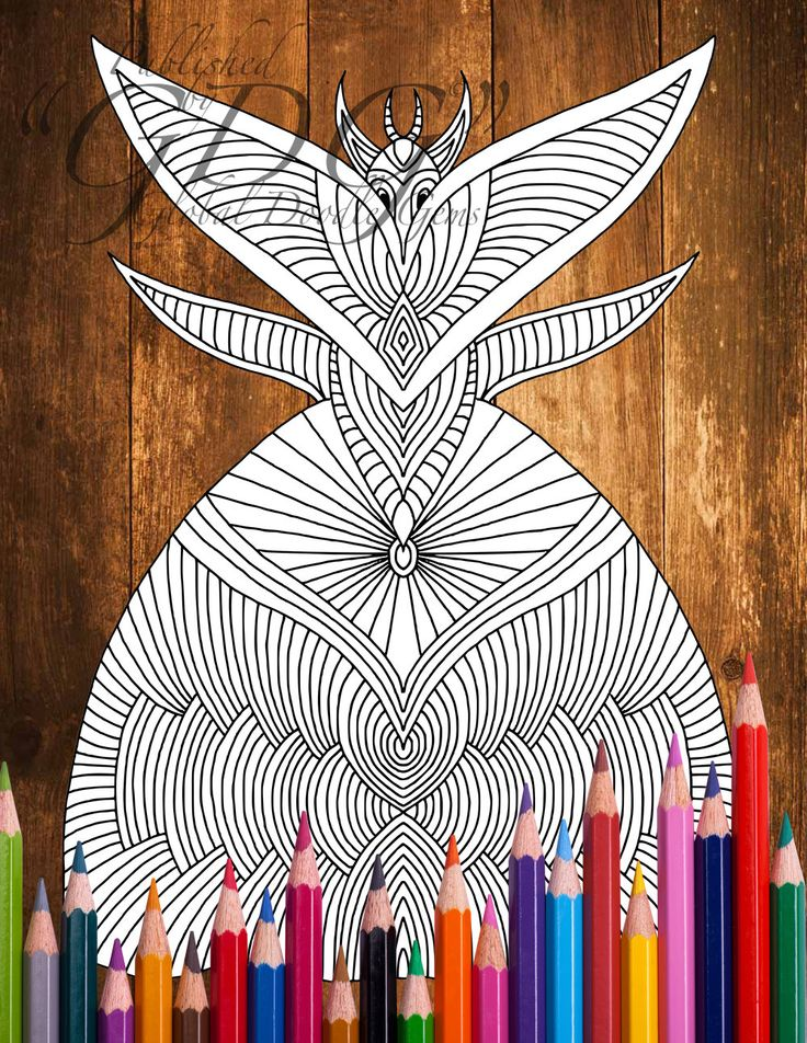 Weirdie 2_2  #Adult coloring page by AMVWART on Etsy