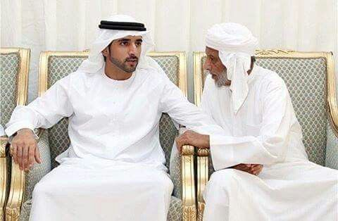CROWN PRINCE FAZZA OFFERING HIS CONDOLENCES TO THE FAMILY OF MARTYR ALI MOHAMMED TARISH ABDULLA AL KAABI DURING A VISIT TO THE MOURNING MAJLIS IN MASFOOT AJMAN