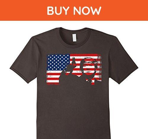 Mens Donald Trump Flag Shirt 4th of July Shirt Large Asphalt - Holiday and seasonal shirts (*Amazon Partner-Link)