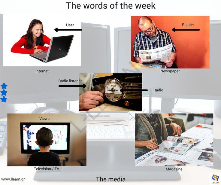 The media. #Αγγλικά #αγγλικές #λέξεις #αγγλική #γλώσσα #λεξιλόγιο #English #english #words #english #language #vocabulary #LLEARN