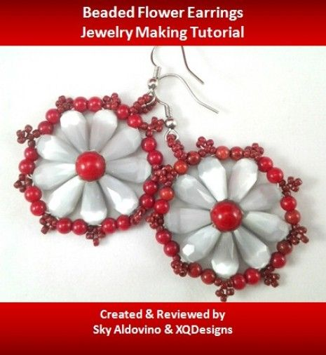 Lots of Free Jewelry Making Tutorials & Lessons: Beading Project: Beaded Flower Earrings
