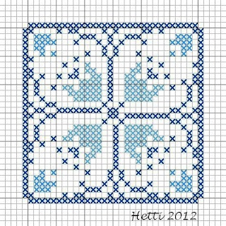 Creative Workshops from Hetti: SAL Delfts Blauwe Tegels, Deel 12 - SAL Delft Blue Tiles, Part 12., Tile 12