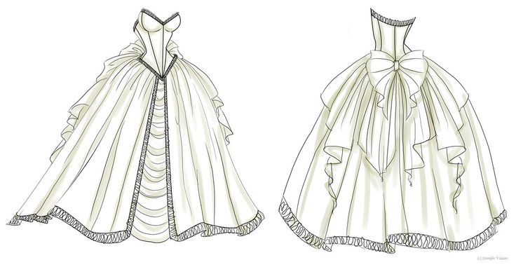 Wedding Dress Design 1 by NoFlutter.deviantart.com on @DeviantArt …