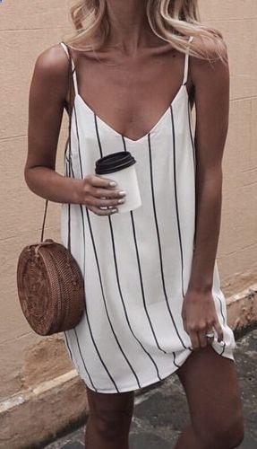 #summer #fashion / striped dress
