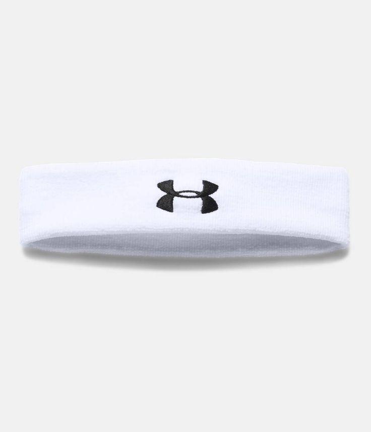 Men's UA Performance Headband, White, zoomed image