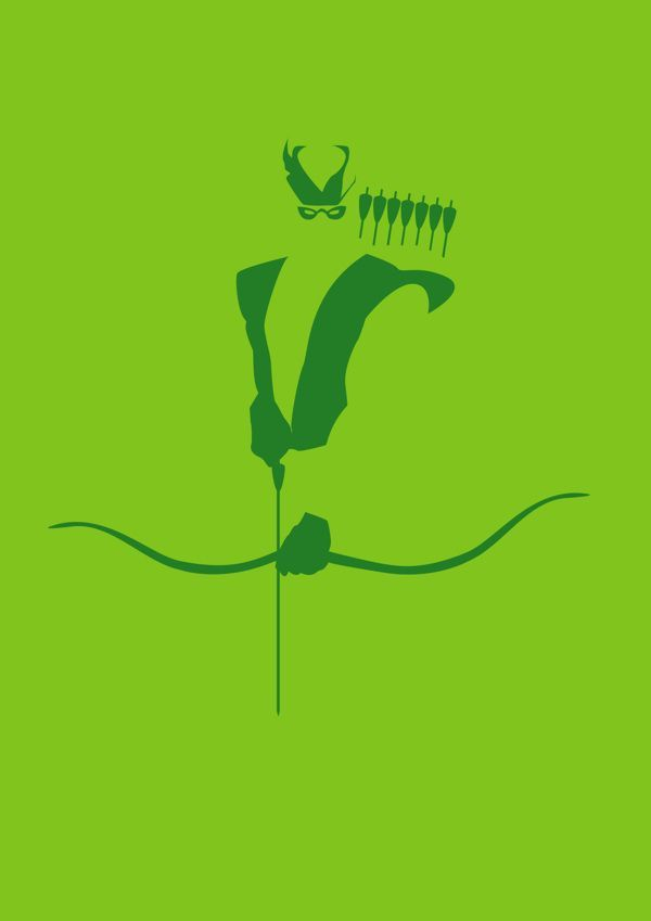 "Green Arrow /// ""Super Hero Minimalist Posters"" poster series /// by Michael Turner"