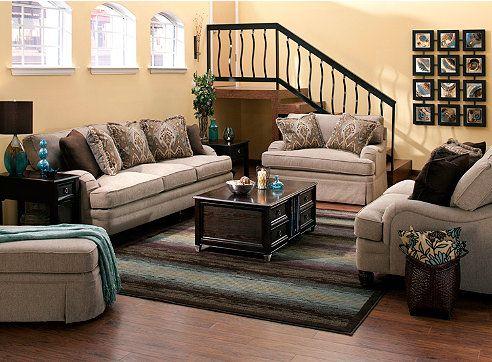 Living room ideas tarelton couch by bernhardt at - Simple elegant living room design ...
