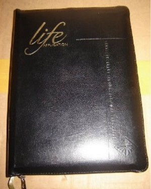 Thai Application Study Bible - Old Testament / Black Leather with ZIPPER / Go...
