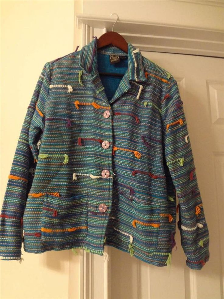 Daniel K Blue Yarn Jacket /blazer Size L #Danielk #BasicJacket