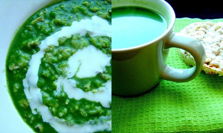 Zupa brokułowo-szpinakowa