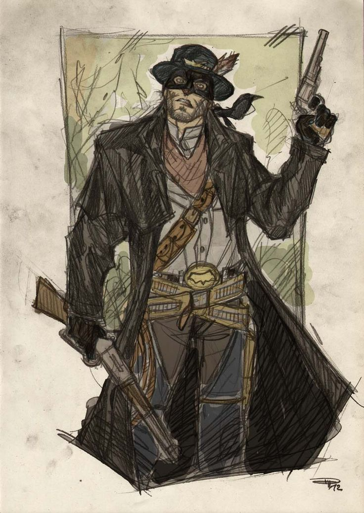 Awesome JUSTICE LEAGUE Western StyleArt, Batman  (I only have one problem with this one. Guess what it is?)