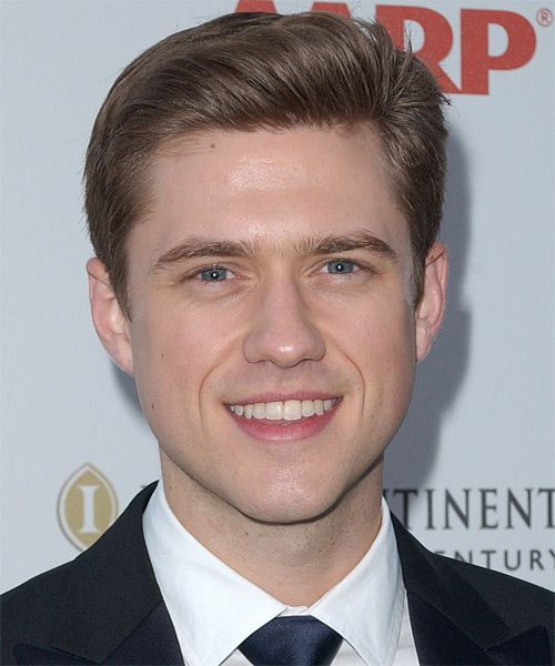 aaron tveit is probably best known for his role as trip van der bilt ...