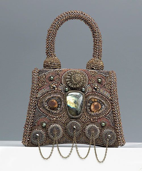 Sherry Serafini beaded purse | I don't exactly know why I like this bag, but it's pinned on my board, now.