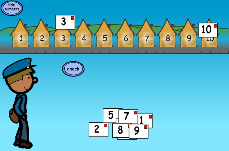 Post the Letters: Deliver the letters to the correct houses. Make this more of a puzzle by hiding the house numbers, asking pupils to use their knowledge of number order to work out which house is which.