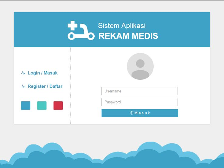 Rekam Medis Login Form by Reza Padillah